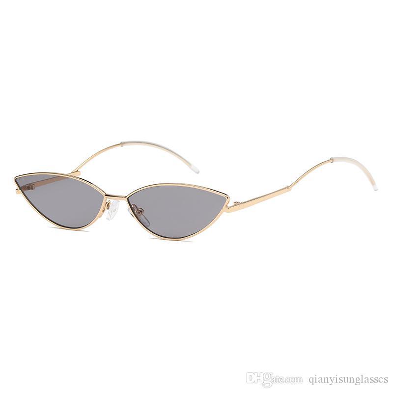 0b25b0da2179d Compre Alta Qualidade De Luxo Olho De Gato Óculos De Sol Das Mulheres De  Uma Peça Óculos De Sol Do Vintage Retro Senhoras Óculos De Sol Da Marca  Designer 9 ...