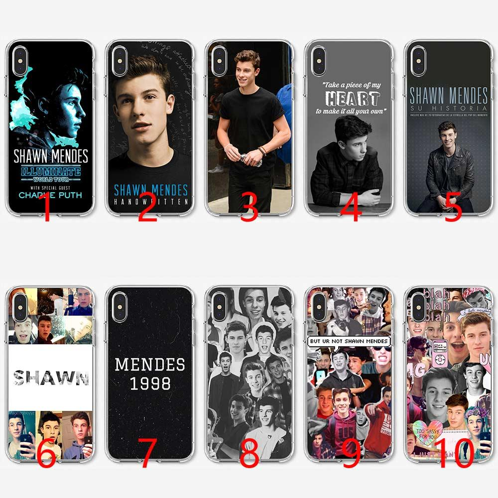 low priced 7c68d bbca3 Shawn Mendes Magcon Soft Silicone TPU Phone Case for iPhone 5 5S SE 6 6S 7  8 Plus X XR XS Max Cover