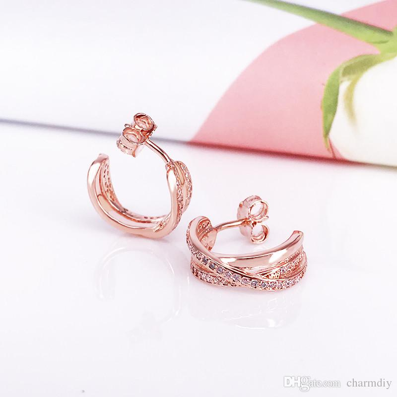 2018 Rose Gold Plated Jewelry Accessories Authentic S925 Silver
