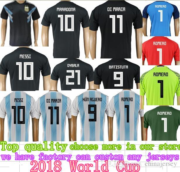 57cff991c 2018 World Cup Argentina Soccer Jersey 2018 Argentina Home Away ...