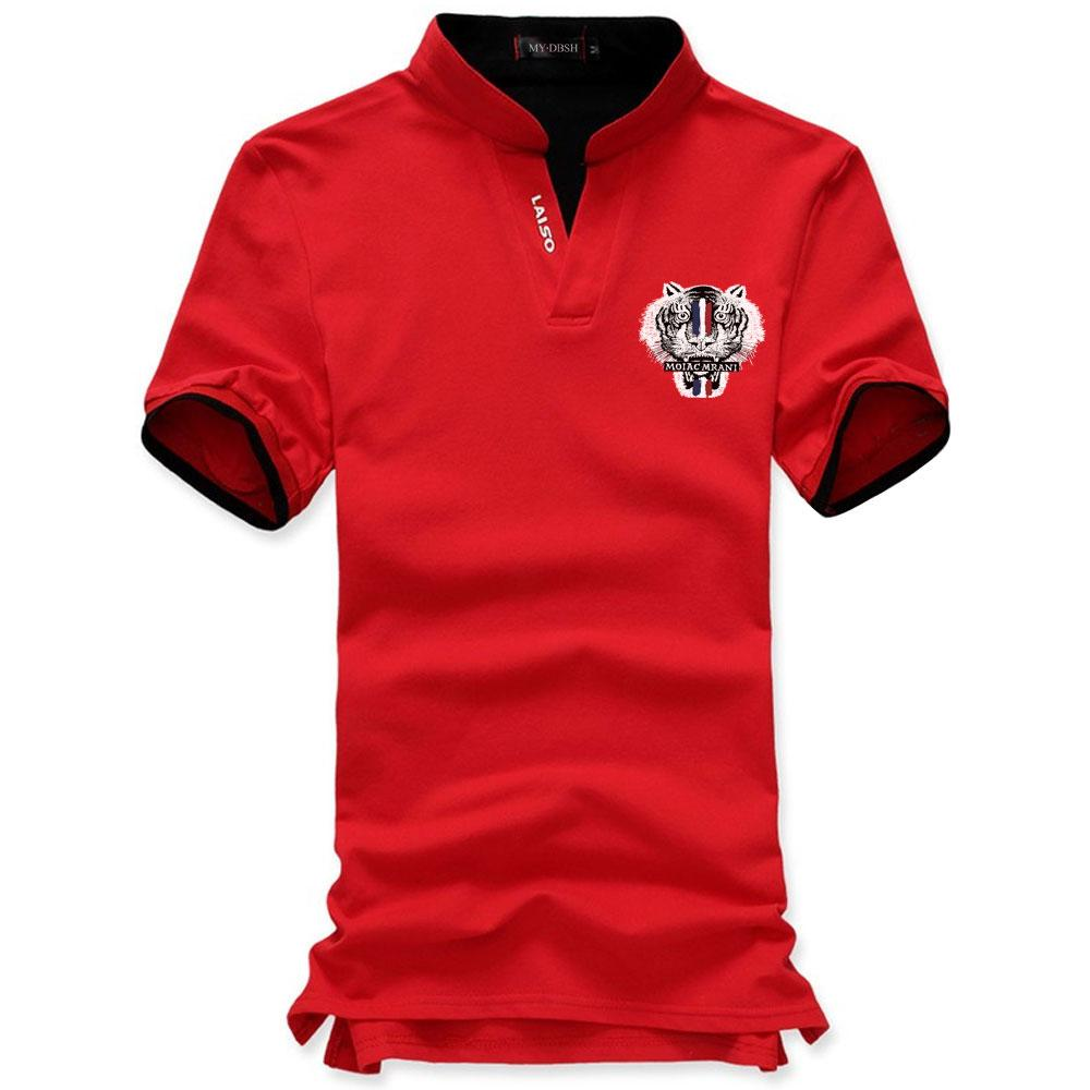 Fashion Tiger Head Printed Polo Shirt Men Casual Short Sleeve Polo Shirts  Camisa Masculina Homme Camisetas Mens Polos Camiseta Online with   44.09 Piece on ... ffb187893b477