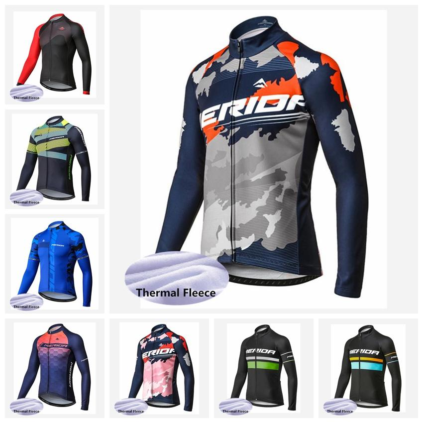 633410755 2018 Pro Team Cycling Clothing Merida Men Cycling Jersey Winter Thermal  Fleece Long Sleeves Bike Clothing Mtb Bicycle Wear 82821J Long Shirts For Men  Long ...