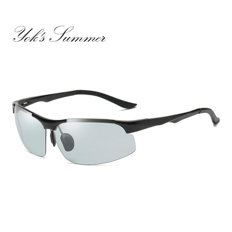 6fcaf9c67ed Yok s Photochromic Sunglasses Male Polarized Discoloration Military ...