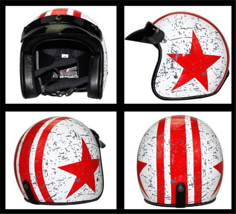 Women Motorcycle Helmet Motorcross Openface Vintage Helmet For