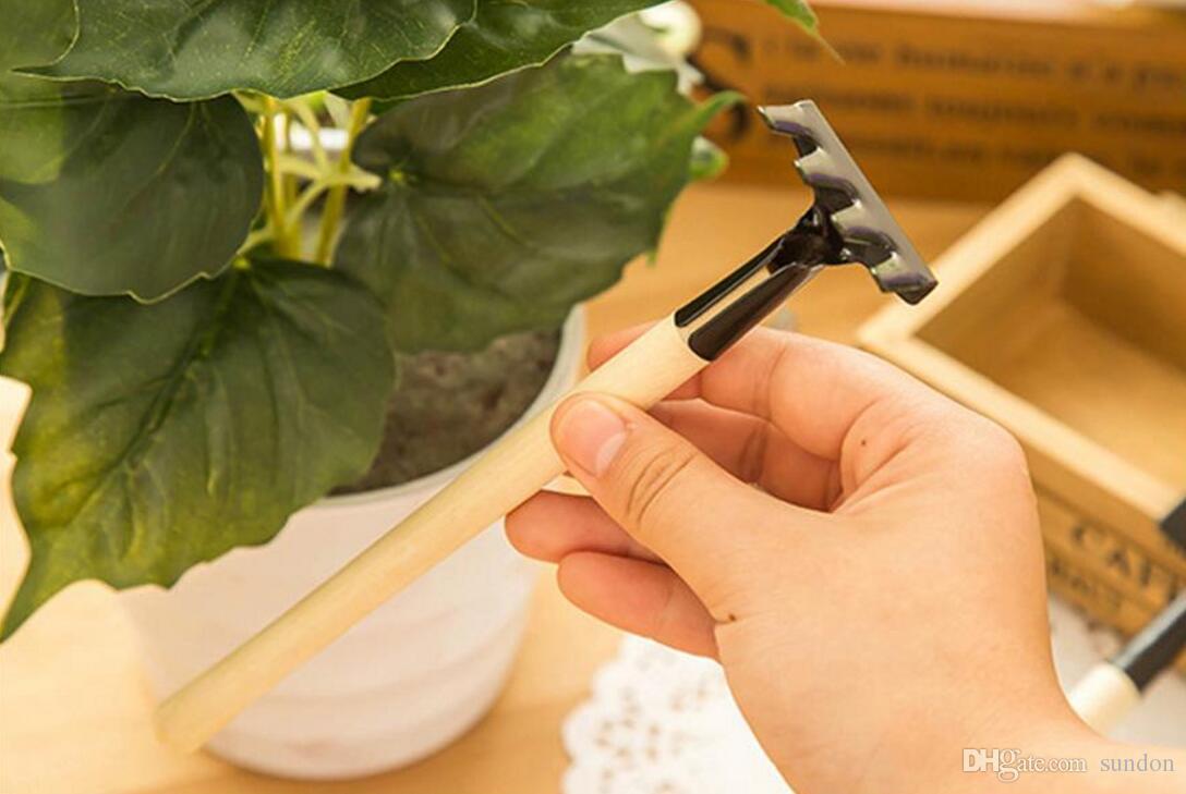Mini Garden Gardener Tools, Small Shovel Rake Spade, Mini Wood Handle Metal Head Kids Plant Tool