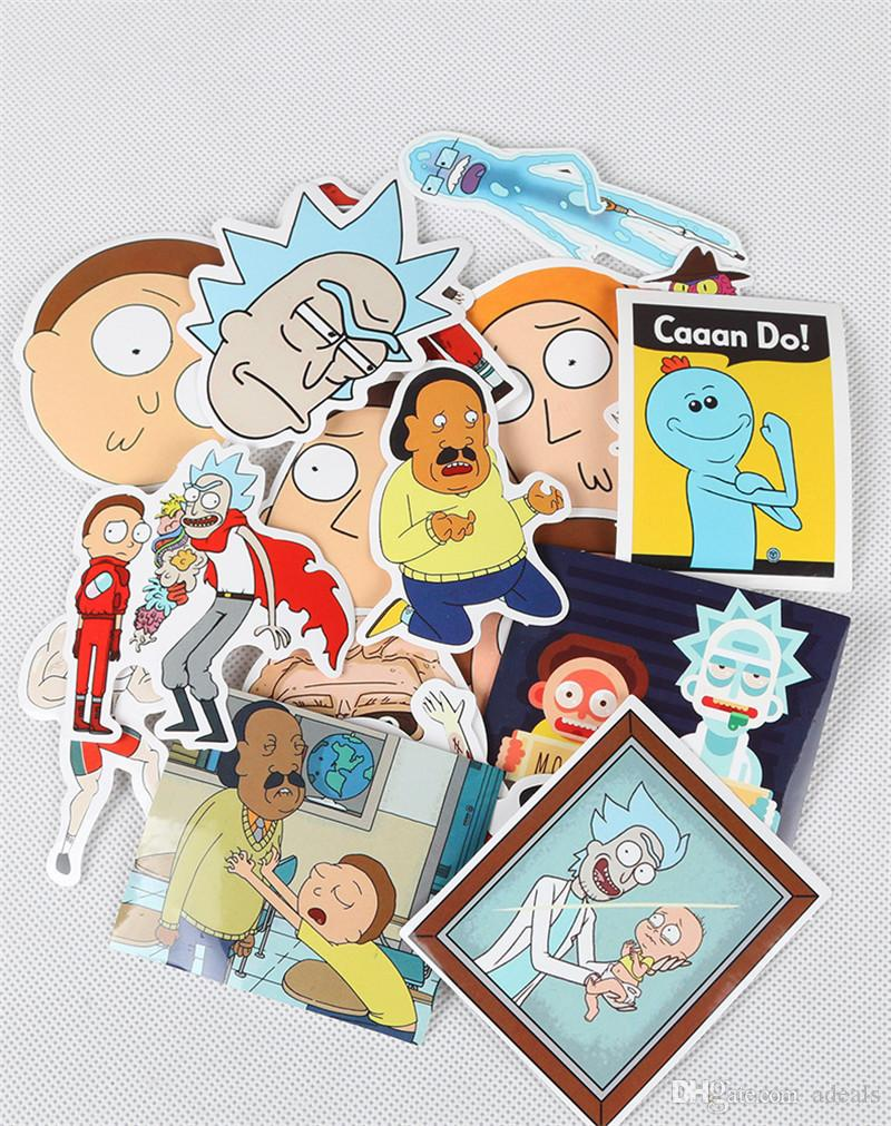 Rick and Morty Funny Sticker Decal For Car Laptop Bicycle Motorcycle Notebook Waterproof Stickers toys