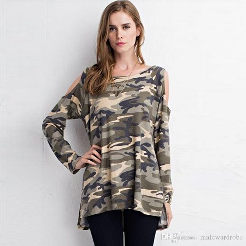 Well-Educated Fall Womens Casual Cardigan Loose Camo Long Sleeve Blouse Shirt Outwear Jacket Coat Tops Casual Women's Clothing