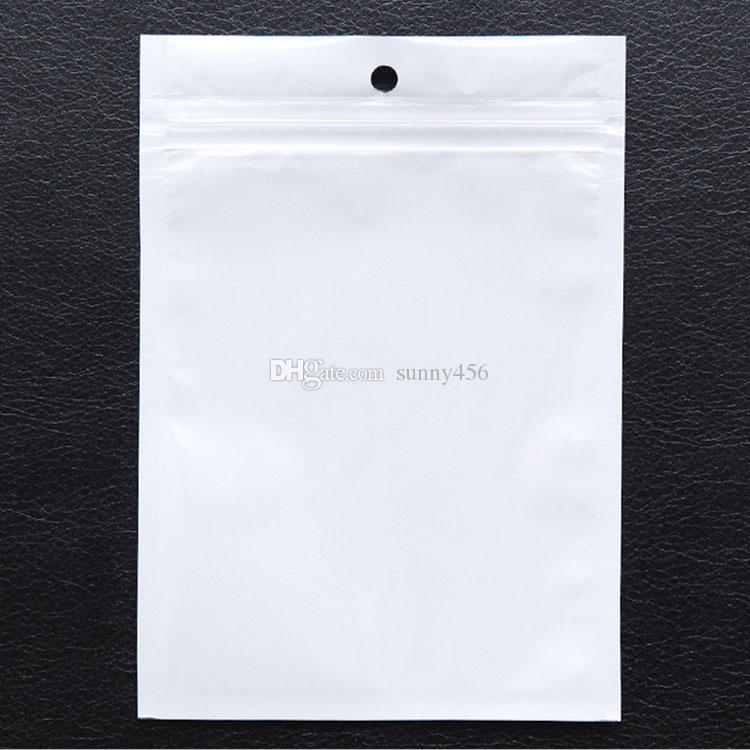 NEW Best Clear white pearl Plastic Poly OPP packing zipper Zip lock Retail Packages Jewelry food PVC plastic bag many size available