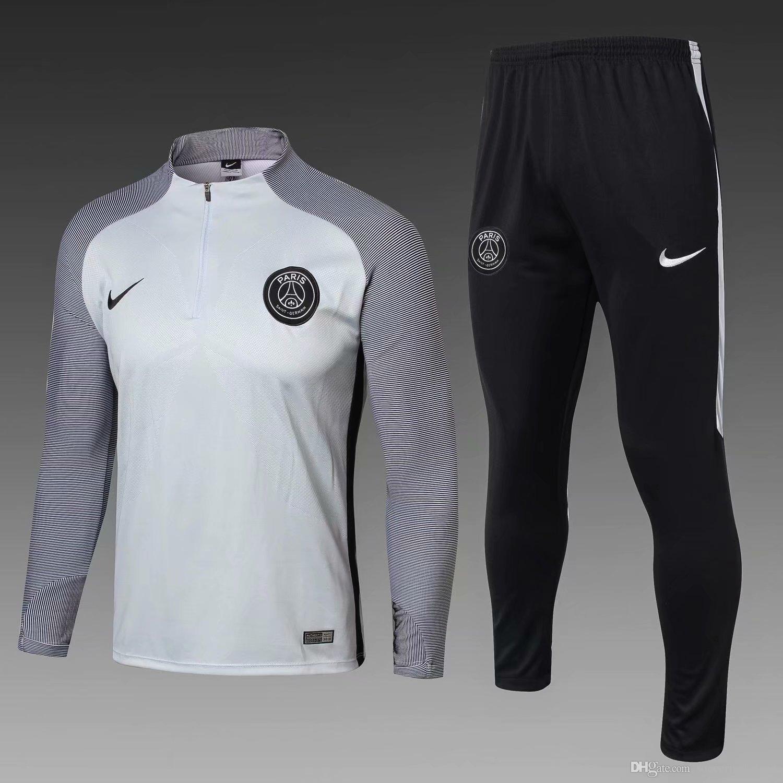 the best attitude 0ccfc a12a5 Best-selling new Paris Saint-Germain jersey training suit set 18 19 home  away PSG Mbape football training suit size S-XL