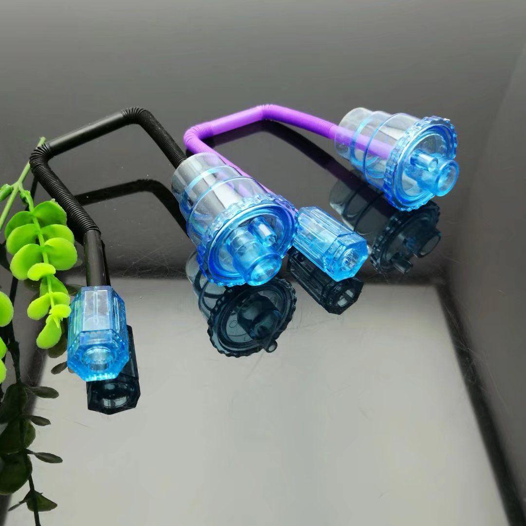 Accesorios de cachimba hechos en casa, Bongs de vidrio al por mayor Tuberías de quemador de aceite Tuberías de agua Tubería de vidrio Plataformas petroleras Fumadores, Envío gratis