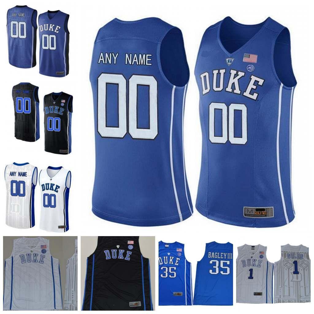 ... discount college stitched jersey custom duke blue devils 12 zion  williamson 5 rj barrett 2 cam ... 233de6b57