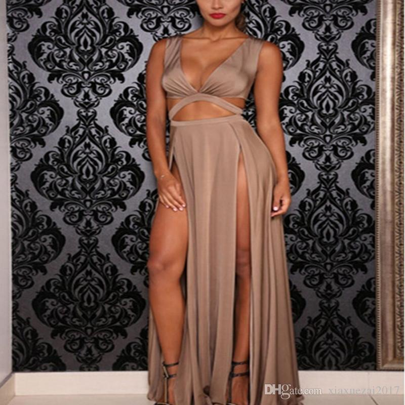 Платья партии sexy fahion Европа и Америка полые сексуальная повязка длинное платье нерегулярные женщины платье горячие продажи S/M/L