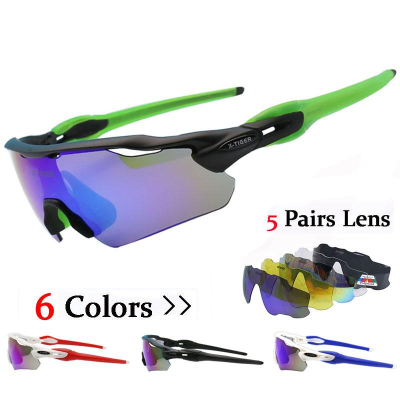 8e2232aca8 Polarized 5 Lens Cycling SunGlasses Ultralight Mountain Bicycle ...