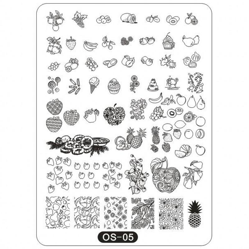 os series big stamping plates 10 14cm rec plates animal fruits