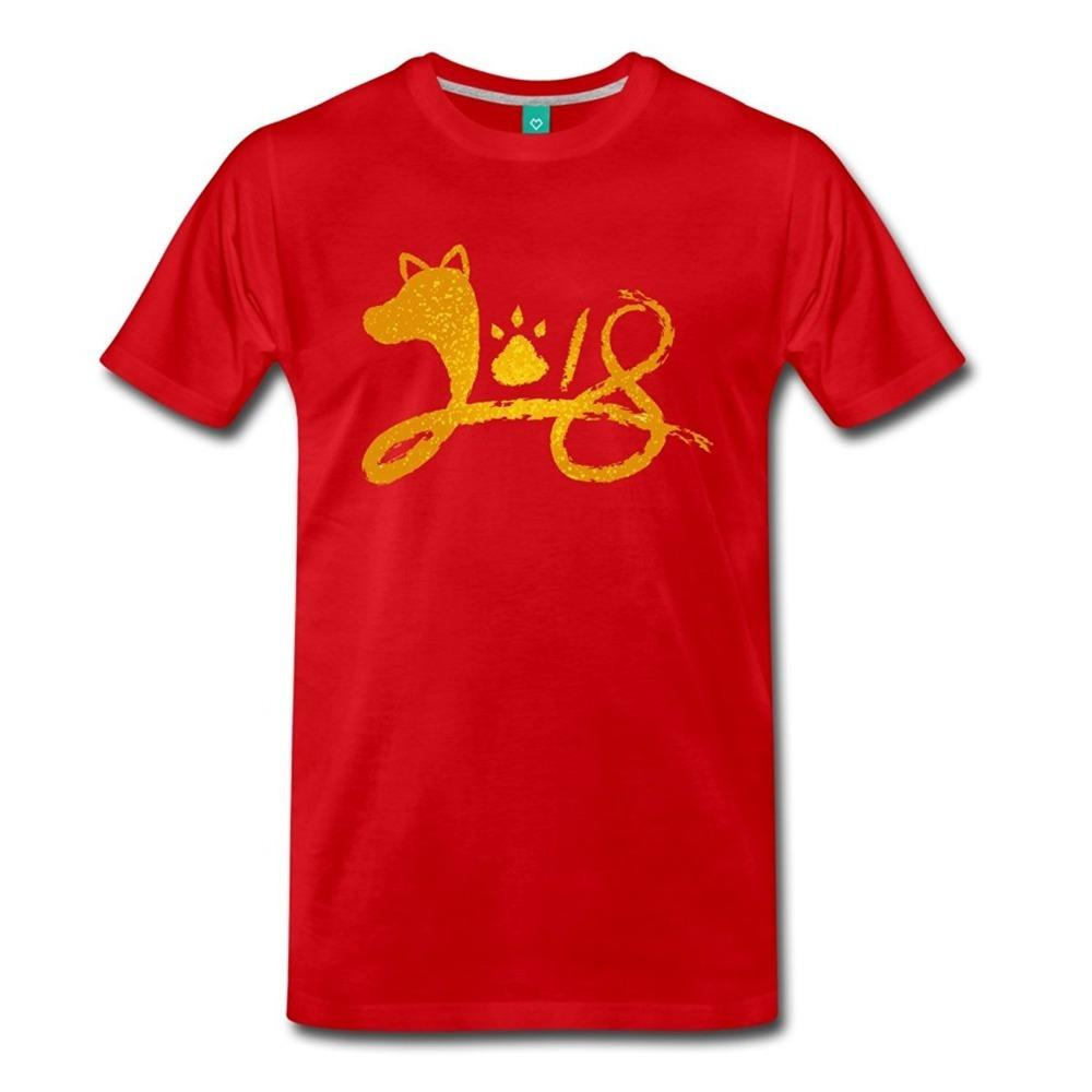 T Shirt Websites Short Sleeve Men Printing Chinese New Year 2018