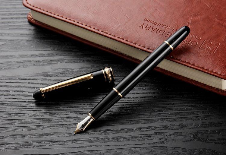 Niedriger Preis Großhandel - Luxus Msk-163 Tintenroller Kugelschreiber Füllfederhalter Schwarz / Rot Harz goldene Silberclip mit Monte-Serie Anzahl