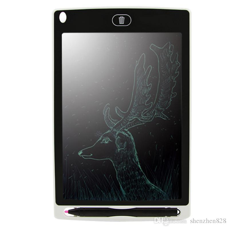 50828D 8.5 inch LCD Writing Tablet Memo Drawing Board Blackboard Handwriting Pads With Upgraded Pen for Kids Office One Butt Christmas gifts