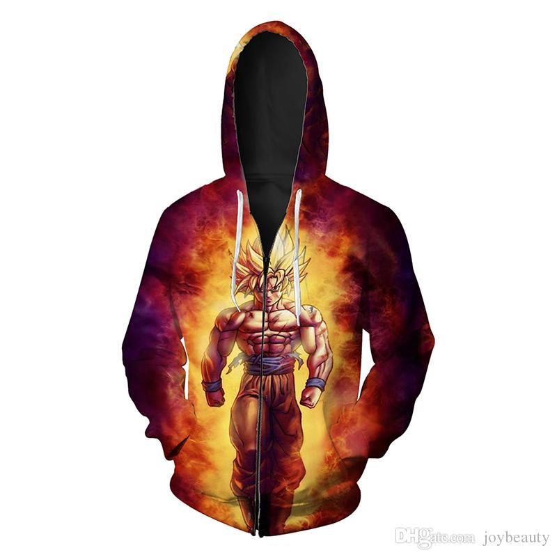 e4ab0e9627f 2019 Men Zipper Hoodie Cartoon 3D Full Printed Man Zip Hooded Sweatshirt  Unisex Casual Hoodies Long Sleeves Sweatshirts Graphic Tops RL100 From  Joybeauty