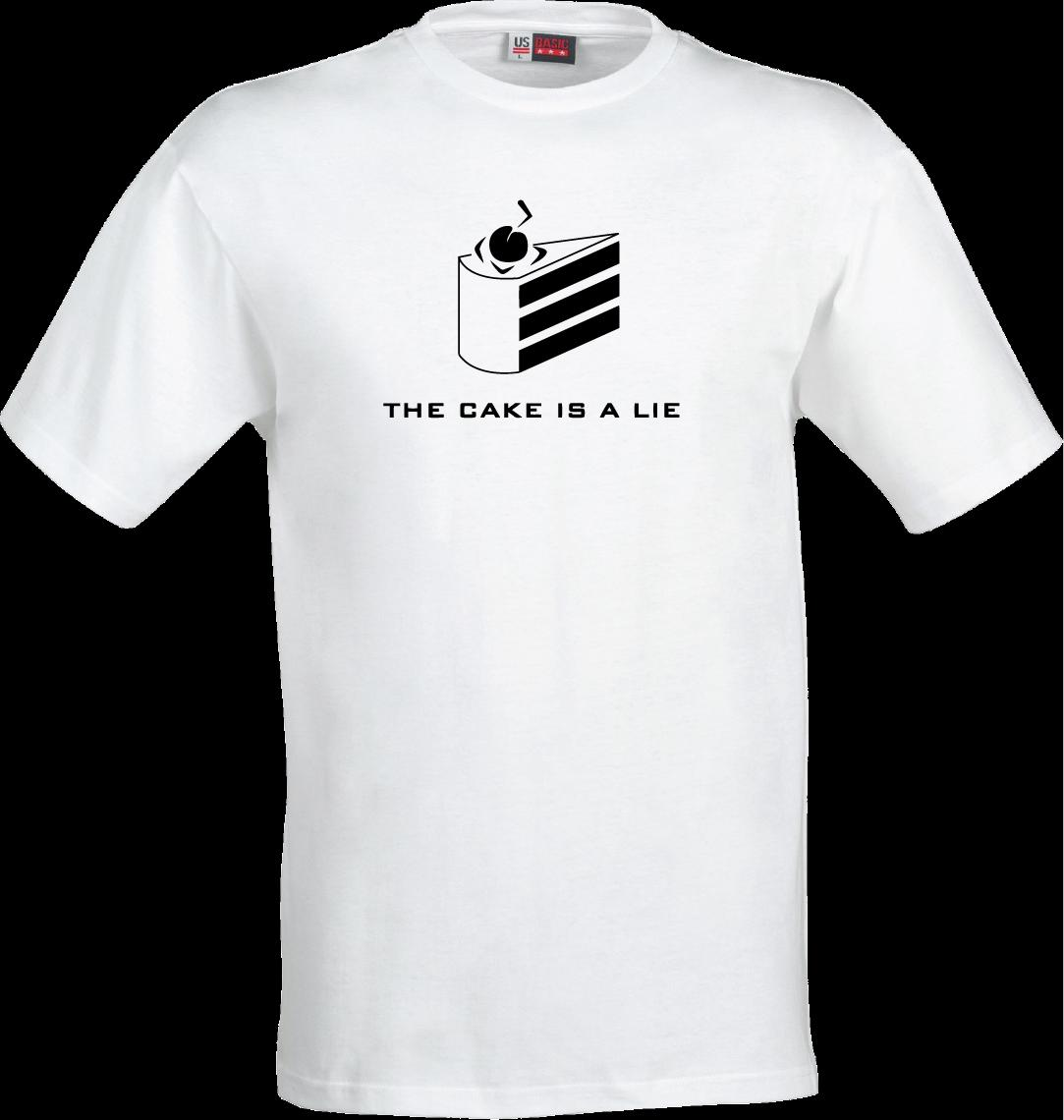 848a4ce59ef THE CAKE IS A LIE Portal Glados Slogan Shirt Game Ps3 Ps4 Xbox Pc Gift  Present Funny Unisex Casual Tee T Shirt Shirt Awesome T Shirts For Guys  From ...