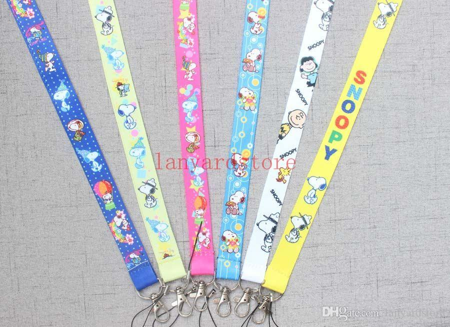 New Lovely blue dog Cellulare LANYARD Neck Strap Charms Snoopy Lanyard ID Card Portachiavi