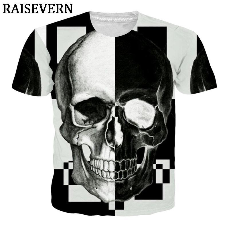Compre 2018 Hombres Camisetas Cráneo Diseño Casual Tops Hipster Impreso Camiseta  Camisetas 3D Camisetas Streetwear Poleras Hombre Unisex A  40.05 Del ... 39af3a66269