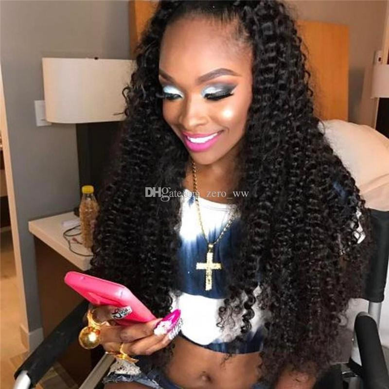Full Lace Human Hair Wigs With Baby Hair Kinky Curly Lace Front Wigs For Black Women 100% Brazilian Virgin Hair Wig