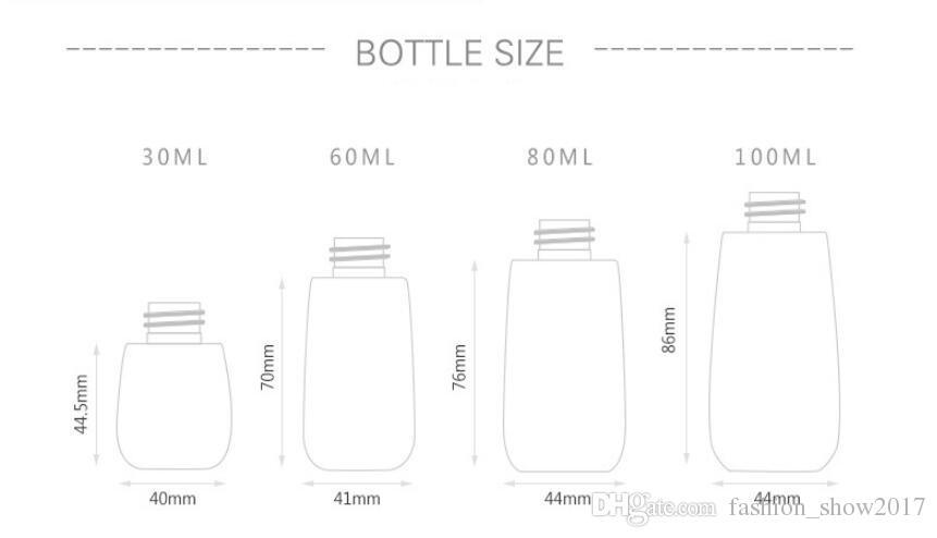 새로운 30ml60ml80ml100ml 여행을 위한 플라스틱 살포 병 안개 스프레이어 UPG 화장용 다시 채울 수 있는 병