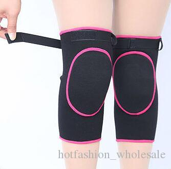 4834ccdc3d7 2019 Adjustable Elastic Sports Leg Knee Support Brace Compression Wrap  Protector Thick Knee Pads Sleeve Cap Cavernous Kneecap From  Hotfashion wholesale