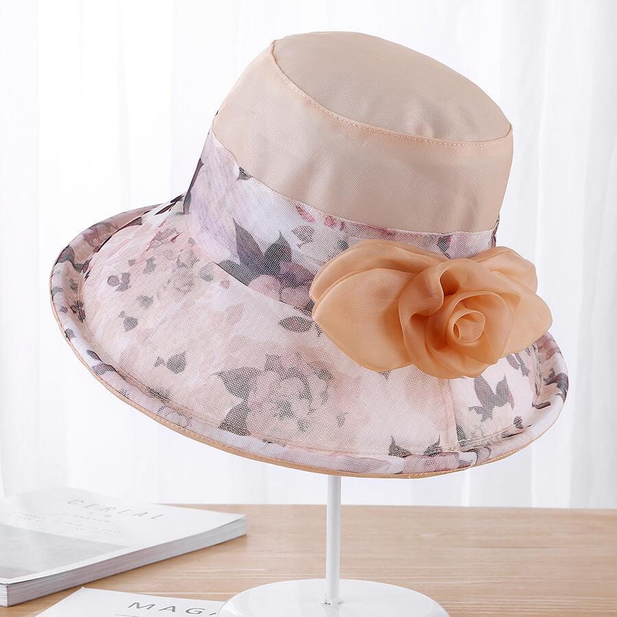 72ad956d 2018 Fashion Women Velvet Bucket Hat Summer Anti-UV Foldable ...