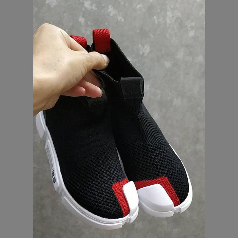 Tela Aire Ayuda Deporte Zapatos La Zapatillas Calcetines Elásticos Casuales Fuerza Malla De Moda Chico Al Ventilación Niños Alta QrthBxsdC