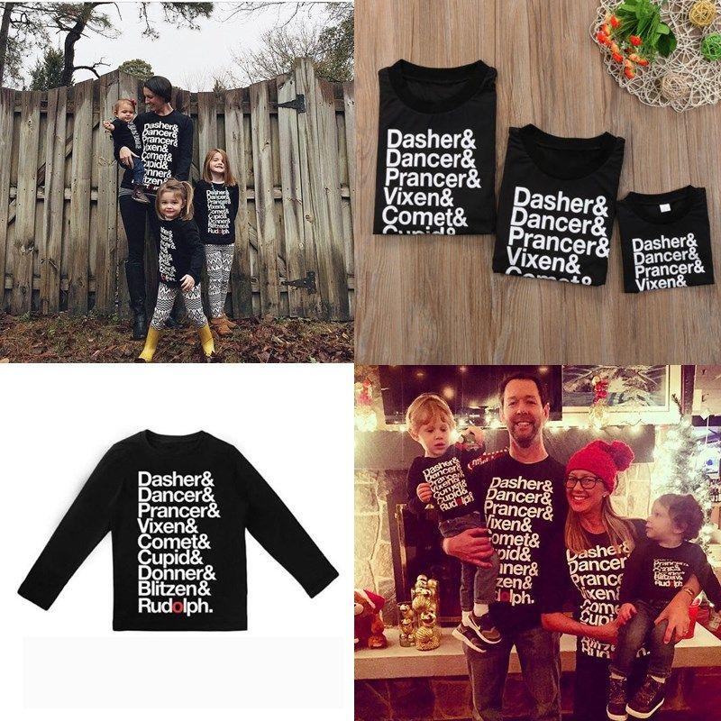288d46e9eeb5 Family Matching Clothes T Shirt Papa Mama Kids Clothing Letter Print ...