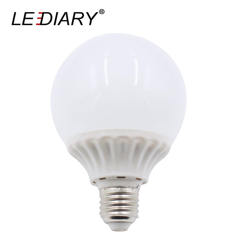 LEDIARY Super Bright G80 E27 Real 4W LED Bulb 100V-220V Aluminum+PC Bubble Ball Bulb Lamp For Living Room Pendant Lamp Bulbs