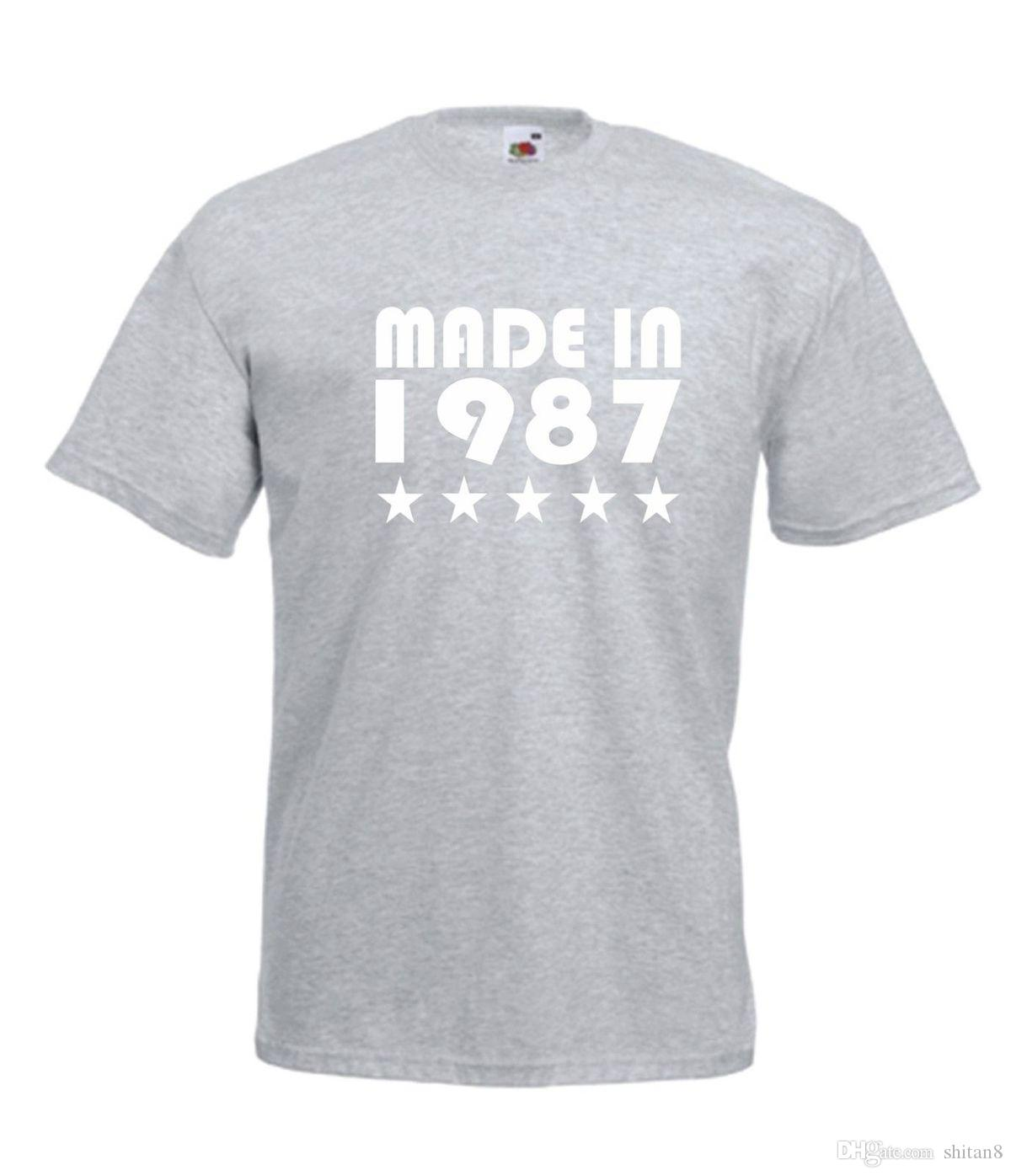 MADE IN 1987 30TH Funny Xmas Birthday Gift Present Mens Womens NEW TOP T SHIRT Printed Shirt MenS Short Sleeve O Neck And Shirts As Tee From