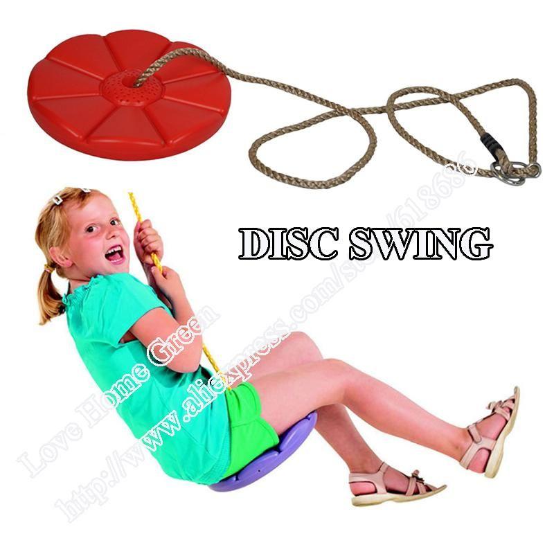 Wholesale Kid Outdoor Disc Swings Plastic Daisy Seat Monkey Swing