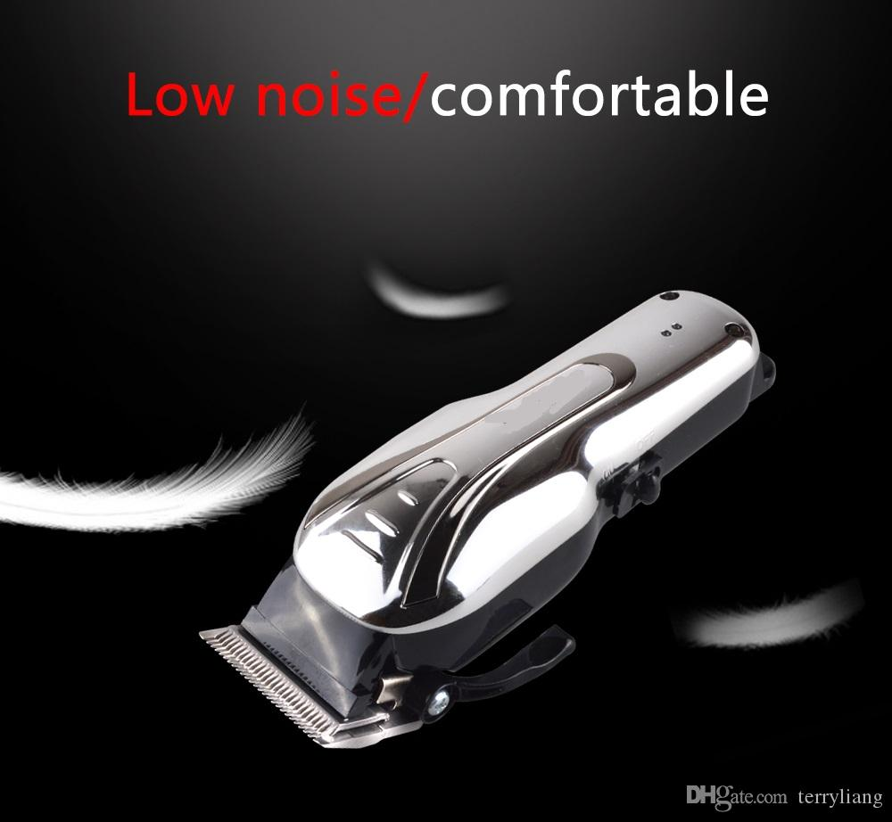 Electric Rechargeable Adult Hair Clipper Low Noise Precision Hair Trimmer With 3/6/10/13mm Comb Hairdressing Cutting Machine Salon Tool