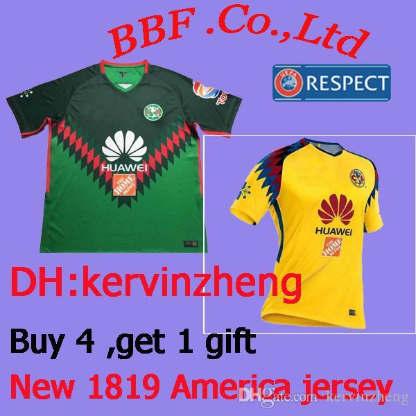 abb97b3fa 2019 Thailand 18 19 Camiseta De Futbol Mexico League Aguilas Soccer Jersey  2018 Mexico Away Third Yellow American Club Jerseys Football Shirts From ...