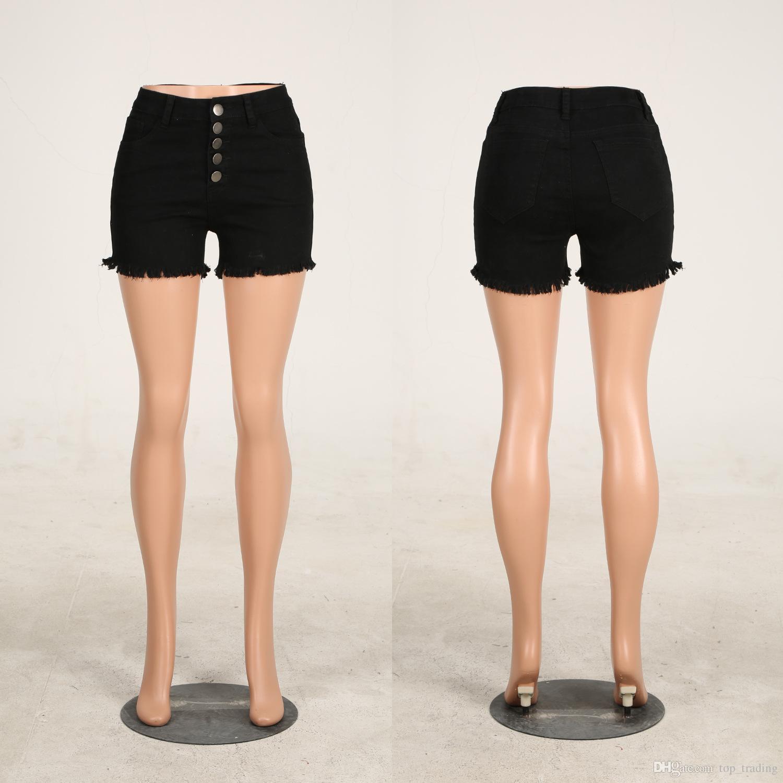 Ripped Denim Short Jeans for Women Mid Waist Summer New Style tassels Fashion Sexy Ladies Shorts Night Clubwear Hot Pants 2XL 185