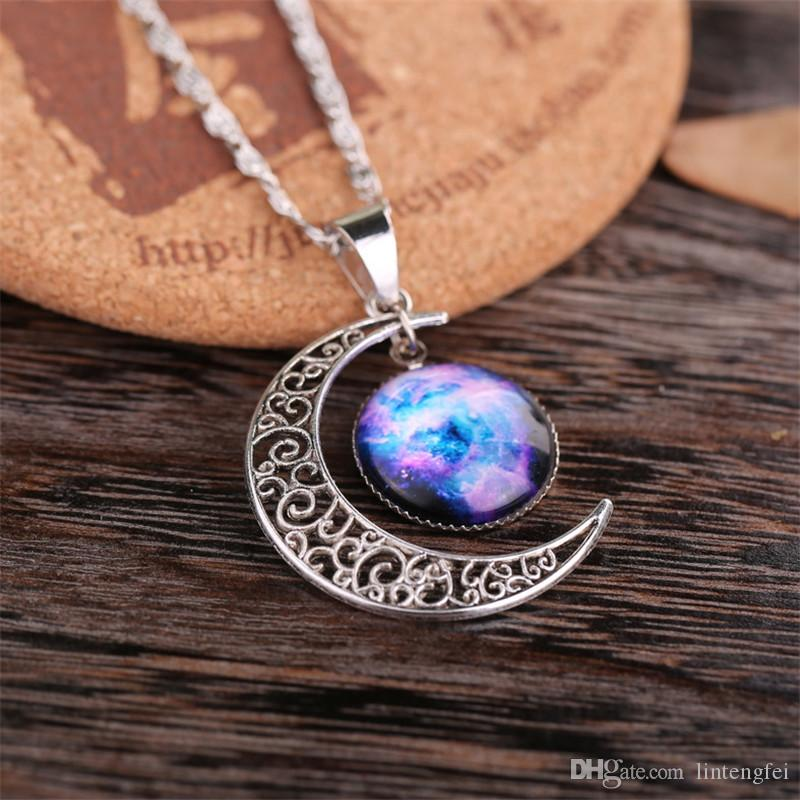 The new moon pendant necklace. Design necklaces for stylish women