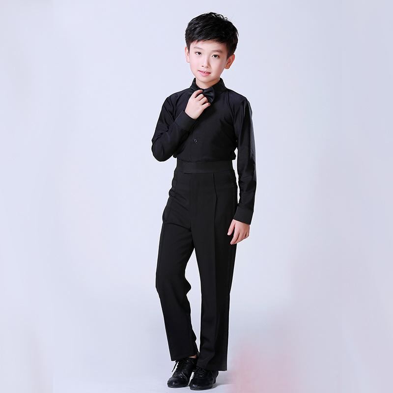 f94e6c349d261 Black Latin Dance Competition Costumes Children Kids Boys Latin ...