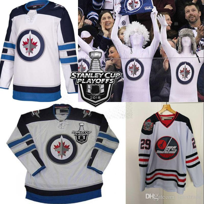 info for 542ad fa4e0 Winnipeg Jets Jersey WITH PLAYOFFS PATCH Heritage Classic Dustin Byfuglien  Paul Stastny Blake Wheeler Joe Morrow Mark Scheifele Patrik Laine