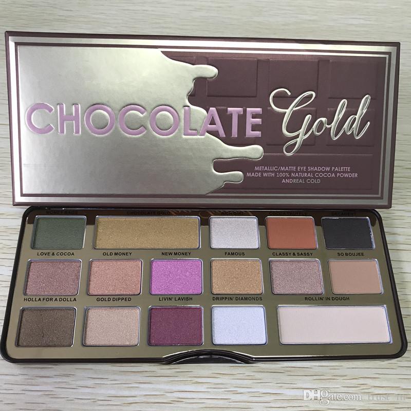 Makeup Palette Chocolate Gold Eyeshadow metallic matte eye shadows natutal cocoa powder palette