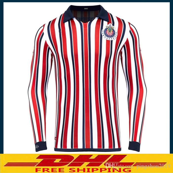 super popular 48340 44abd 2018 2019 Club Chivas de Guadalajara Soccer Jersey Men's T-Shirts 2018  Chivas Club World Cup jersey Men's T-Shirts Size can be mixed batch