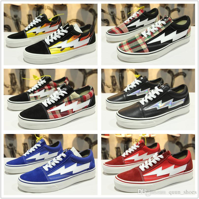 2018 NEW Revenge X Storm Old Skool Men Women Canvas Skate Board Shoes Low  Cut Skateboard Top Quatily Designer Casual Shoe Sports Sneakers Wholesale  Shoes ... 2d00e1b2a