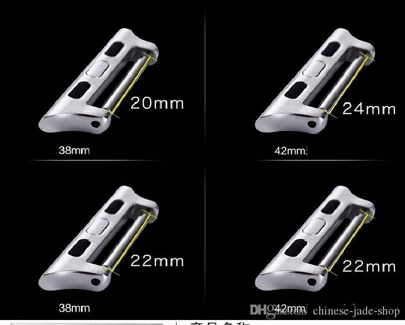 Adaptadores de aço inoxidável para o Apple Watch Series 6 5 4 3 2 1 SE Adaptador de Adaptador de Banda 38 42mm 40 44mm Pulso Conector de Pulso