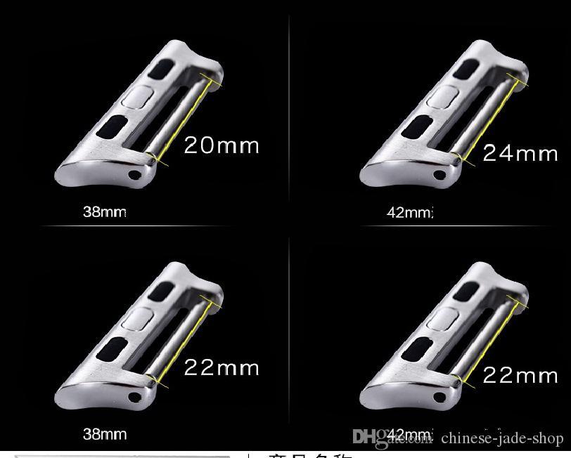 Bir Çifti Paslanmaz Çelik Adaptörler Bağlayıcı Apple İzle serisi 4 3 2 1 38mm 40mm 42mm 44mm /
