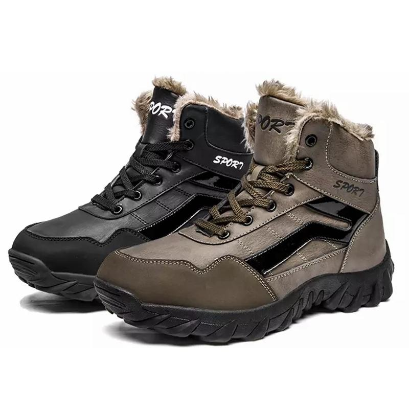 63c99d2881a9 High Quality New Men Mid Waterproof Ankle Boot Winter Warm Hiking Boots  Casual Leather Shoes Snow Work Boots For Men Plus Size Womens Boots Boots  Uk From ...