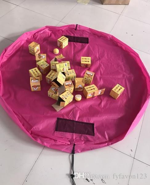 2018 Renkli Bebek Oyun Mat Lüks Oyuncak Saklama Torbaları Paspaslar Oynarken Taşınabilir Oyuncaklar Battaniye Kilim Kutuları Oyuncaklar Organizatör Noel Hediyesi A236