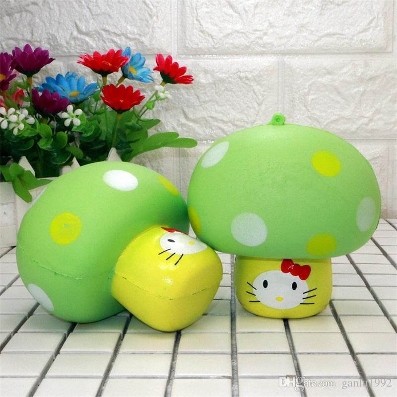 Simulation Squishy Mushroom New Product Aroma Slow Rebound Squeeze Lovely Kitty Bread Phone Charm Squishies Ornament 8 5xr W
