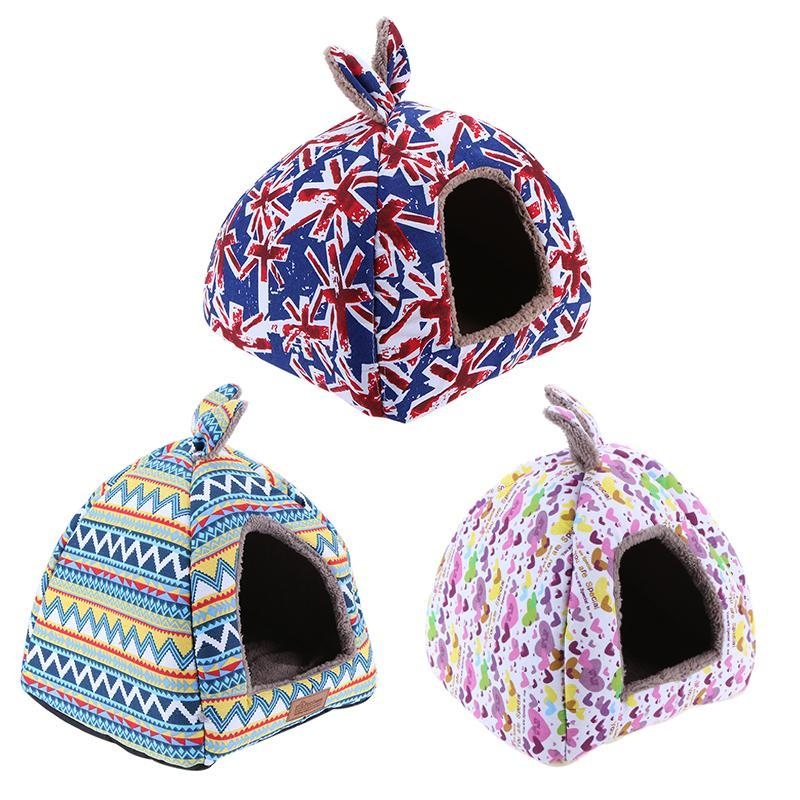 a3f7a41baef0 Pet Fashion Striped House With Removable Cover Dog S Mat Foldable ...
