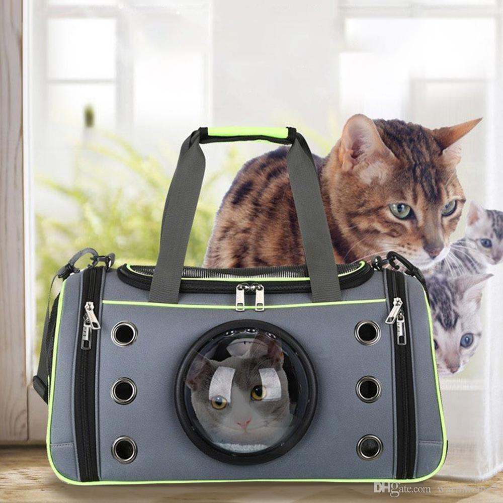 21a94a711c 2019 Dog Cat Carrier Space Capsule Shape Breathable Handbag Space Capsule  Astronaut Pet Cat Backpack Bubble Window For Kitty Puppy Chihuahua VB From  ...